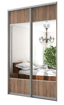 Зеркальные двери-купе для шкафа-купе с вставками ЛДСП Дк 4 - фото 4850