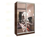 Шкаф-купе 2-х дверный с пескоструйным рисунком шк 24