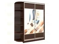 Шкаф-купе 2-х дверный с пескоструйным рисунком шк 26